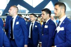 Cosmin Moti, Nicusor Stanciu, Alexandru Matel, Florin Andone Stock Images