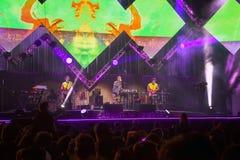 Cosmo在音乐会的阶段执行5月一日 库存图片