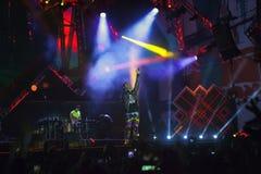 Cosmo在音乐会的阶段执行5月一日 库存照片
