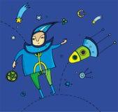 cosmo мальчика Стоковая Фотография RF
