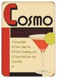 Cosmo art deco Sytle Plakatowego rocznika Retro przyjęcie zdjęcia stock
