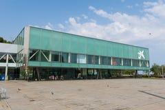 Cosmo Caixa, een wetenschapsmuseum in Barcelona, Catalonië, S wordt gevestigd dat Stock Foto