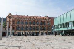 Cosmo Caixa, een wetenschapsmuseum in Barcelona, Catalonië, S wordt gevestigd dat Stock Foto's
