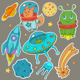 Cosmo vector stickers royalty free illustration