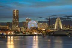 Cosmo zegaru 21 Duży koło przy Cosmo Światowym parkiem tematycznym Pacifico i fotografia royalty free