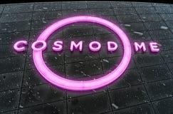 Cosmodome neon sign Stock Photo