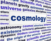 Cosmology scientific message concept Royalty Free Stock Photo