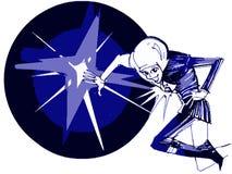 Cosmonaut cartoon Stock Image