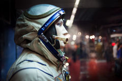 Cosmonaut dummy in the suit,  Museum of Royalty Free Stock Photos