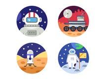 Cosmonaut icons pixel perfect Royalty Free Stock Photos