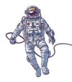Cosmonauta del ejemplo del vector, Imágenes de archivo libres de regalías