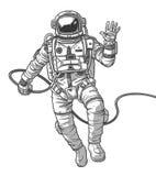 Cosmonauta del ejemplo del vector, Imagen de archivo libre de regalías