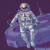 Cosmonauta del ejemplo del vector Imágenes de archivo libres de regalías