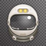 Cosmonauta realístico Astronaut do capacete 3d ilustração stock