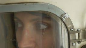 Cosmonauta soviético Speaking almacen de metraje de vídeo