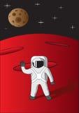 Cosmonauta su Marte Fotografia Stock Libera da Diritti