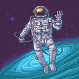 Cosmonaute d'illustration de vecteur Photos libres de droits