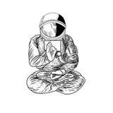 Cosmonaute d'illustration de vecteur, Photographie stock
