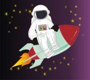 Cosmonaute et étoiles illustration stock