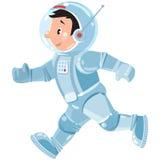 Cosmonaute ou astronaute drôle de garçon illustration stock