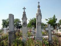 Cosmopolit cemetery in Sulina, in Danube Delta, Tulcea, Romania Stock Photography