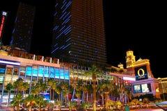 Cosmopolita de Las Vegas y de Bellagio imagen de archivo libre de regalías