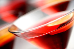 Cosmopolitan. Red drink with lemon ,close up Stock Photos