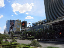 Cosmopolitan and Aria hotels and signs Stock Photo