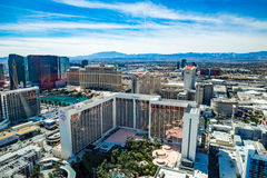 Cosmopolitan, Bally's, Bellagio, Caesars Palace and Flamingo  Hotel and Casinos Stock Photography