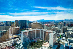 Cosmopolitan, Ballys, Bellagio, Caesars Palace and Flamingo  Hotel and Casinos Royalty Free Stock Photography