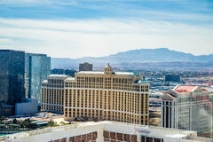 Cosmopolitan, Bellagio, Caesars Palace and Flamingo  Hotel and Casinos Stock Images