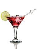 Cosmopolitan cocktail. Isolated on white Royalty Free Stock Image