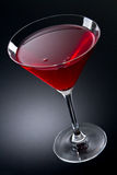 Cosmopolitan cocktail drink. On a gray gradient stock photo