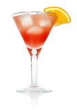 Cosmopolitan cocktail. Drink isolated on white background royalty free stock photos