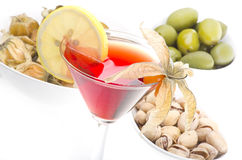 Cosmopolitan cocktail drink. Isolation on a white stock image
