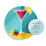 Cosmopolitan cocktail drink recipe for party Royalty Free Stock Image