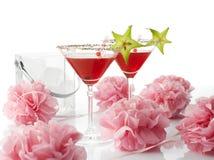 Cosmopolitan cocktail drink. White background stock photos