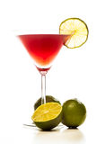 Cosmopolitan cocktail garnished with lime Stock Photography