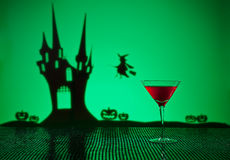 Cosmopolitan cocktail in Halloween setting Royalty Free Stock Photo