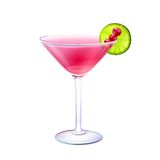 Cosmopolitan cocktail realistic Royalty Free Stock Image