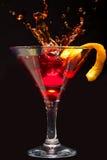 Splashing Cosmopolitan Cocktail Royalty Free Stock Images
