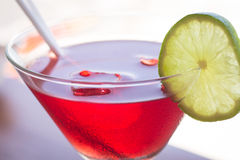Cosmopolitan. A glass of Cosmopolitan Drink stock image