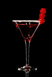 Cosmopolitan martini fresh Coctail isolated on black Stock Photos