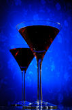 Cosmopolitan martini glass Stock Images