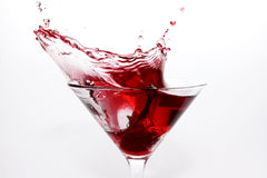 Cosmopolitan Martini Splash Stock Photo