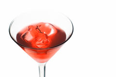Cosmopolitan - Red Alcoholic Cocktail. Isolated on White Background Royalty Free Stock Images