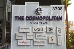 The Cosmopolitan Sign in Las Vegas, NV on May 18, 2013 Stock Photo