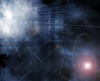Cosmos. Abstract illustration of the space vector illustration