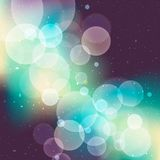 Cosmos. Abstract bokeh stars background,  illustration with clipping mask Royalty Free Illustration