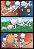Cosmos et astronautes illustration libre de droits